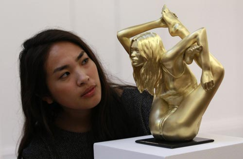 Marc Quinn Kate Moss Gold Sculpture