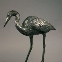 Wildlife Heron Henrietta by Edd Hayes - search and link Sculpture with SculptSite.com