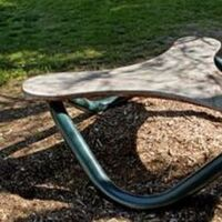 Helix Bench II (Granite) by Gilbert Boro - search and link Sculpture with SculptSite.com