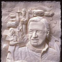 Dick Johnston AM Tribute by Ray Besserdin - search and link Sculpture with SculptSite.com