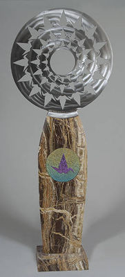 Peace Crane Mandula by Mark Carroll - search and link Sculpture with SculptSite.com
