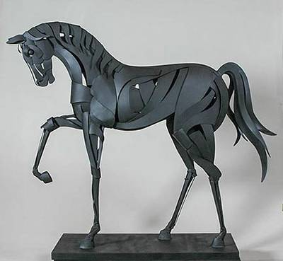 Black Stallion by Mark Carroll - search and link Sculpture with SculptSite.com