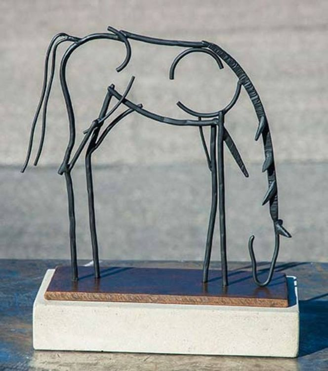 Grazing, Steel Wire Drawing by Mark Carroll - search and link Sculpture with SculptSite.com