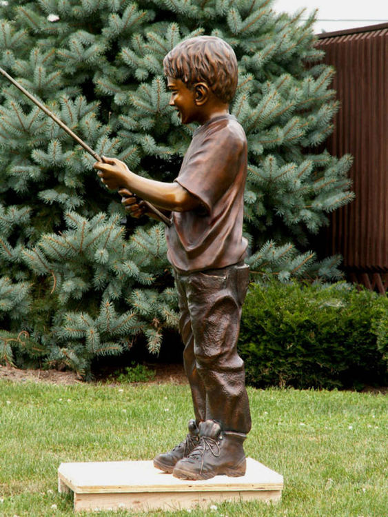 Playing Hooky by Anita Watts - search and link Sculpture with SculptSite.com