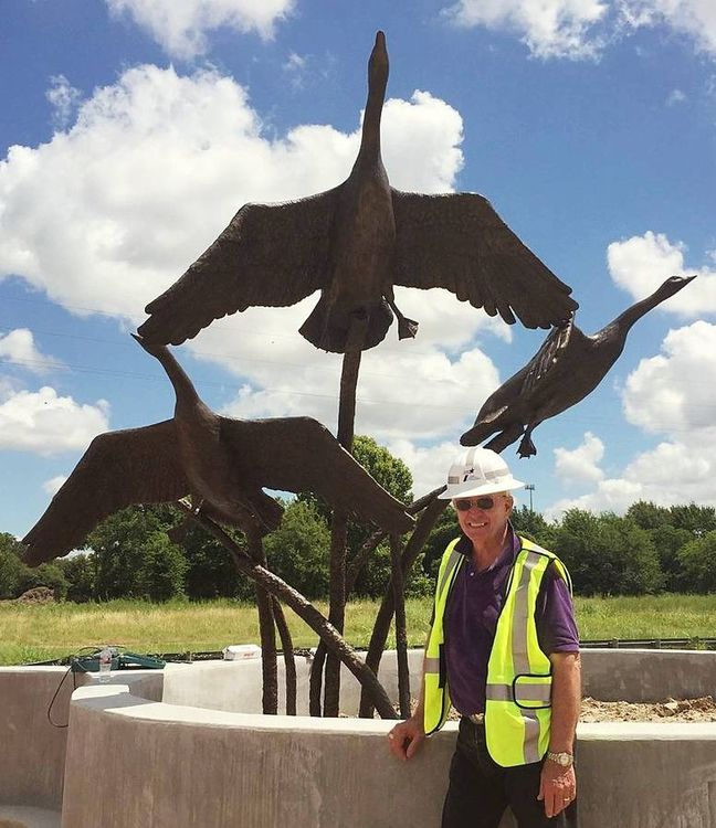 Wildlife Monuments - The Departure by Edd Hayes - search and link Sculpture with SculptSite.com