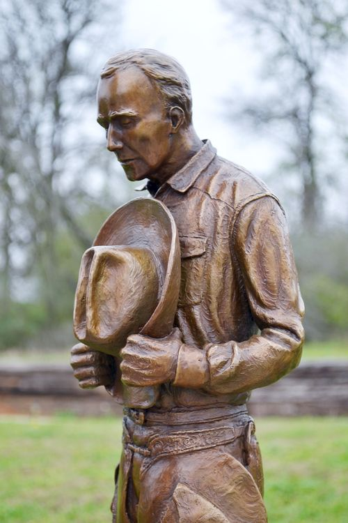 Western - This Cowboy's Prayer by Edd Hayes - search and link Sculpture with SculptSite.com