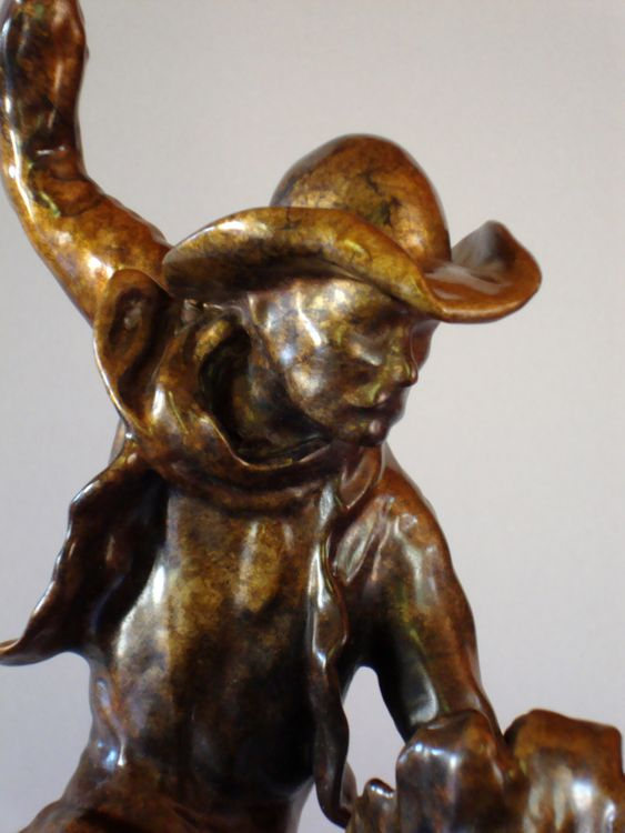 Western - Pete and the Outlaw (PF) by Edd Hayes - search and link Sculpture with SculptSite.com