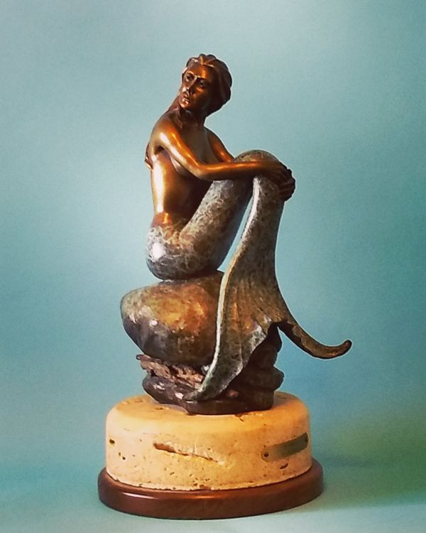 Mermaids - If Only (maquette) by Edd Hayes - search and link Sculpture with SculptSite.com