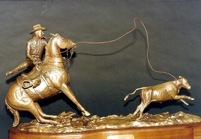Legends of Rodeo - Dean Oliver, Dean of Ropers by Edd Hayes - search and link Sculpture with SculptSite.com