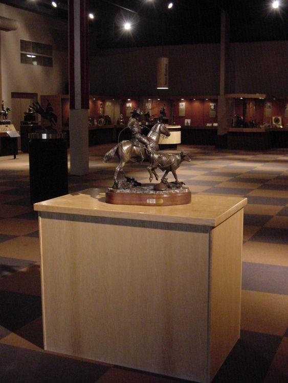 Legends of Rodeo - Clark McEntire, Paying the Grocery Bill by Edd Hayes - search and link Sculpture with SculptSite.com