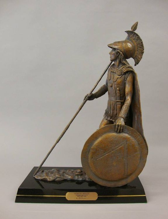Ancient Warriors - Spartan Hoplite by Edd Hayes - search and link Sculpture with SculptSite.com