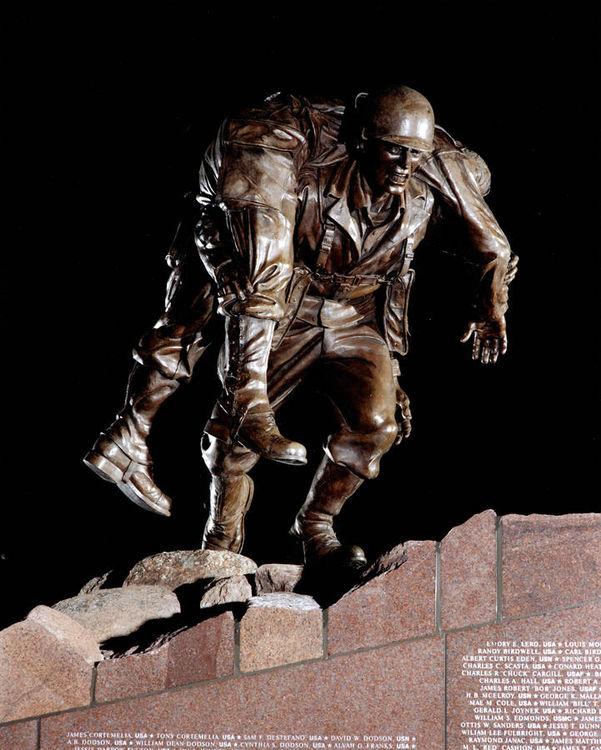 Brazos Valley Veterans Memorial by Robert Eccleston - search and link Sculpture with SculptSite.com