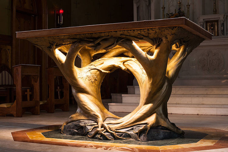 Tree of Life Altar by Robert Eccleston - search and link Sculpture with SculptSite.com