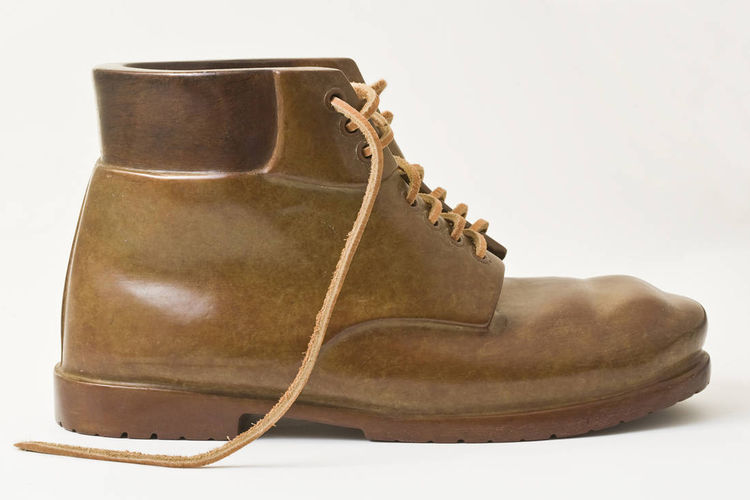 work boot bronze by Robin Antar - search and link Sculpture with SculptSite.com