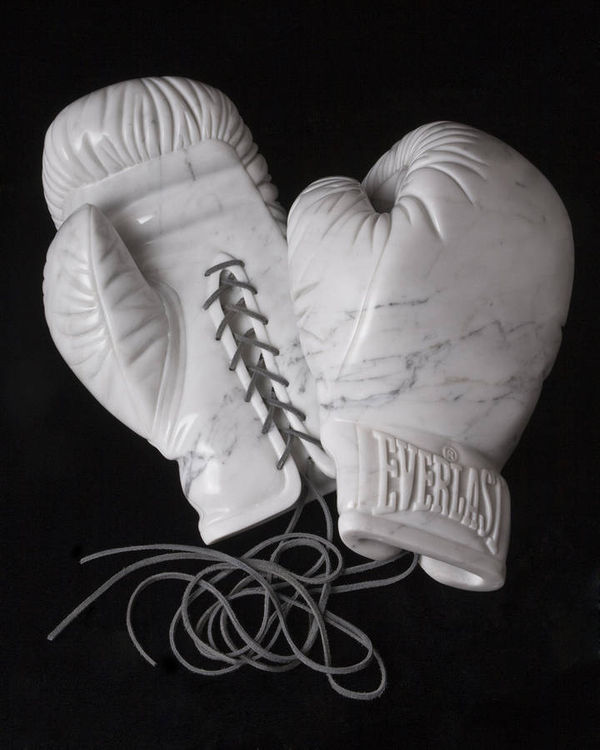 Boxing Gloves marble by Robin Antar - search and link Sculpture with SculptSite.com