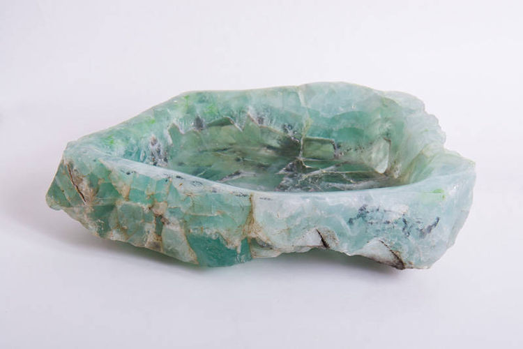 Fluorite Bowl by Robin Antar - search and link Sculpture with SculptSite.com