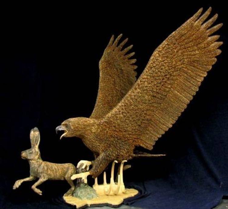 Golden Eagle by Edward Kitt - search and link Sculpture with SculptSite.com