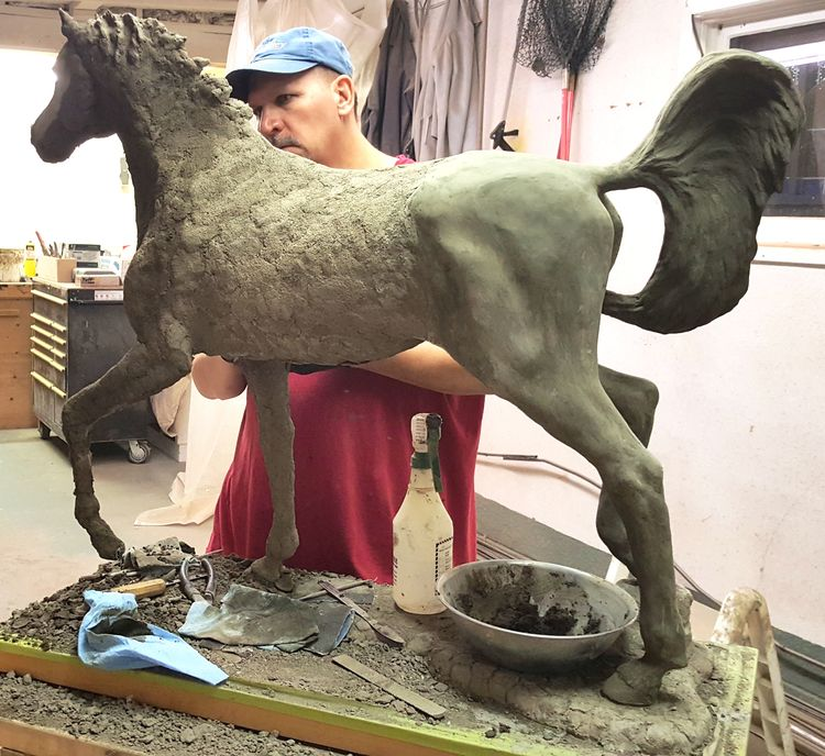 Concrete horse 2 by Edward Kitt - search and link Sculpture with SculptSite.com