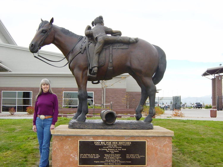 To Big for Her Britches by Dawn Weimer - search and link Sculpture with SculptSite.com