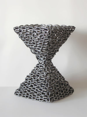 Pyramidal Hourglass by Djordje Aralica - search and link Sculpture with SculptSite.com