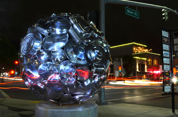 Plenum Orb by Donald Gialanella - search and link Sculpture with SculptSite.com