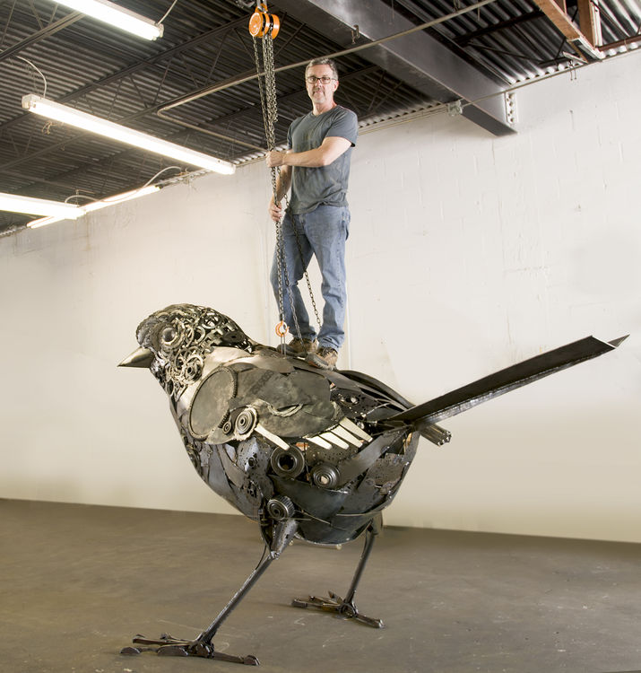 Dream Sparrow by Donald Gialanella - search and link Sculpture with SculptSite.com