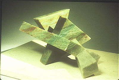 Four Interconnecting Triangles by Debora Solomon - search and link Sculpture with SculptSite.com