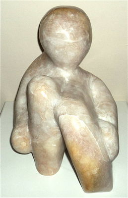 Sitting Man by Debora Solomon - search and link Sculpture with SculptSite.com