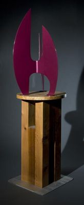 """After the Race II I/32"""" Imperial Purple by Gilbert Boro - search and link Sculpture with SculptSite.com"""