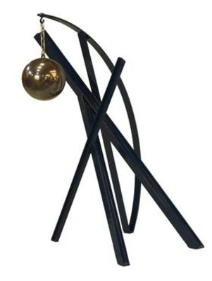 """Ball, Beams & Curves I/30"""" Sapphire Blue by Gilbert Boro - search and link Sculpture with SculptSite.com"""