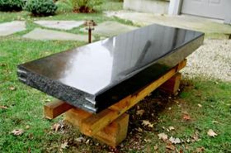 Granite Wood Bench II by Gilbert Boro - search and link Sculpture with SculptSite.com