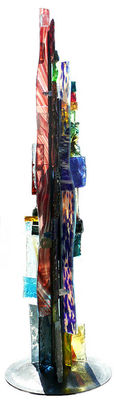 Glass Tower 1 by Jean Jacques Duval - search and link Sculpture with SculptSite.com