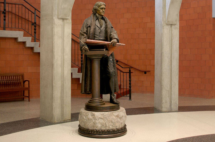 Thomas Jefferson 1802 by James Muir - search and link Sculpture with SculptSite.com