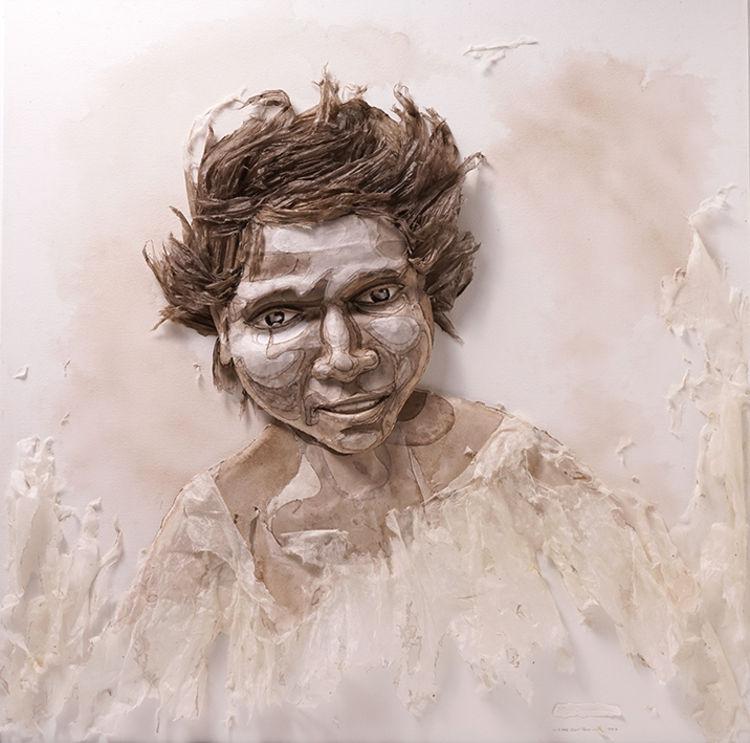 Little Girl Torn by Ray Besserdin - search and link Sculpture with SculptSite.com