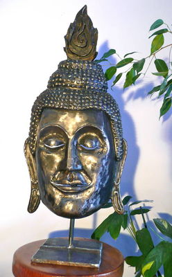 Smiling Buddha by Pierre Riche - search and link Sculpture with SculptSite.com
