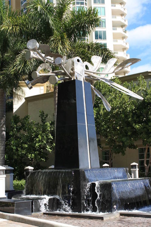The Water Garden by Wayne Trapp - search and link Sculpture with SculptSite.com